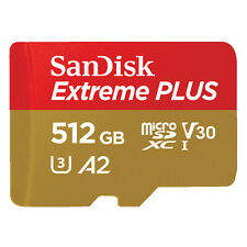 SANDISK Extreme Plus 512 GB Video Speed Class 30 (V30), UHS Class 3, Class 10