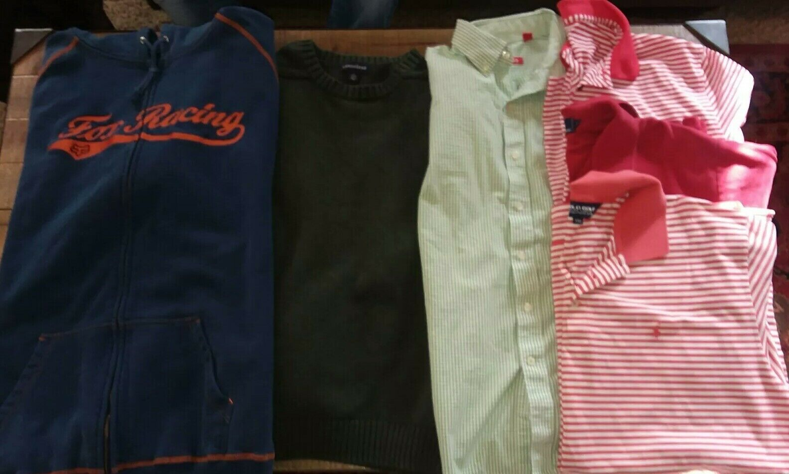 Lof Of Mens XL 2XL pre-owned name Brand Clothing. Polo, Izod, Fox Racing & More