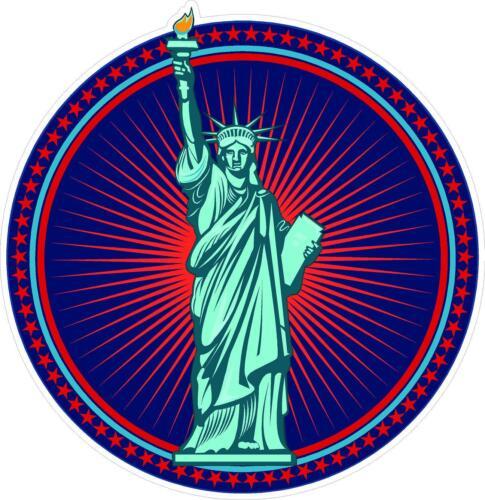 """1 3.5/"""" Statue Of Liberty USA AMERICA Decal Sticker Laminated USA #995"""