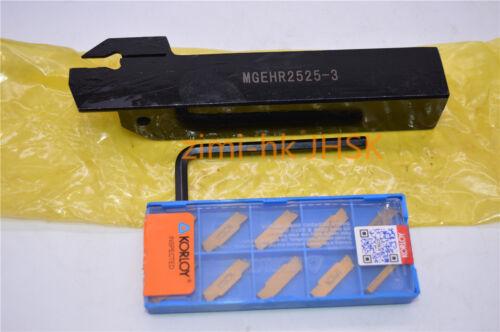 MGEHR2525-3 Holder Boring Bar Lathe Cut Grooving 3mm wide CNC MGMN300-M 10pcs