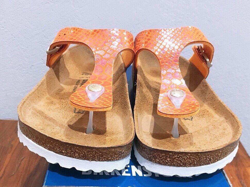 Birkenstock Gizeh 1005285 Größe 39 L88.5 R Orange Birko-Flor Thong Sandale