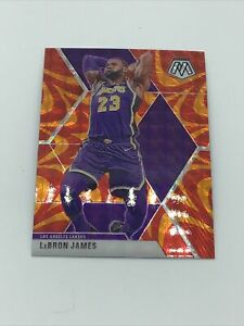 2019-20 Panini Mosaic Lebron James Reactive Orange Refractor Prizm #8 Lakers