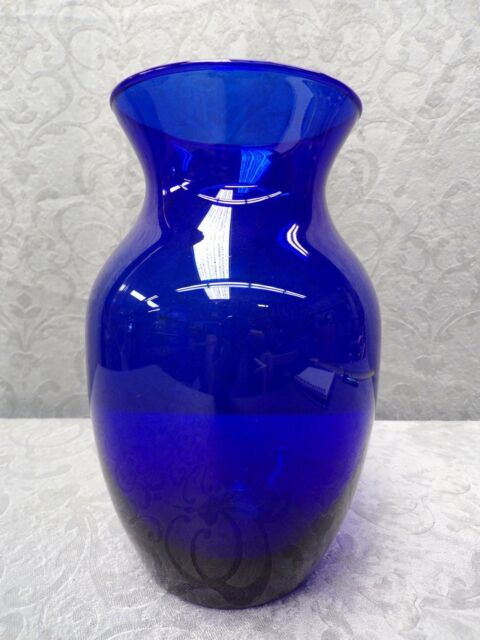 Cobalt Blue Glass Vase * Contemporary Cobalt Blue Flower Vase