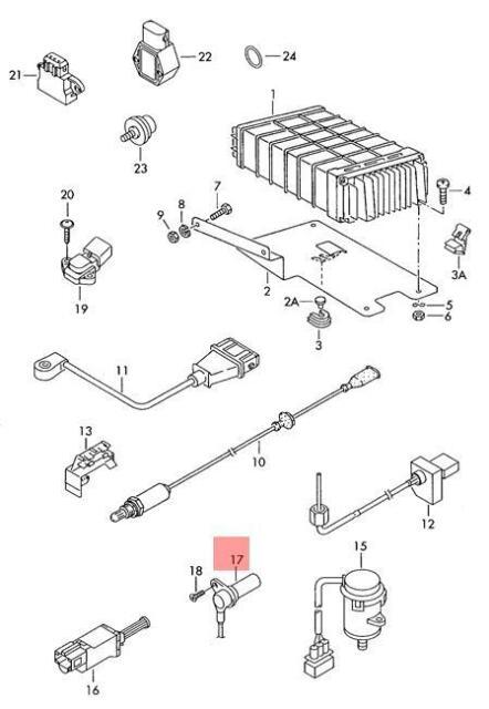 genuine crankshaft pulse sensor vw golf r32 gti rabbit jetta variant  030957147l for sale online   ebay  ebay