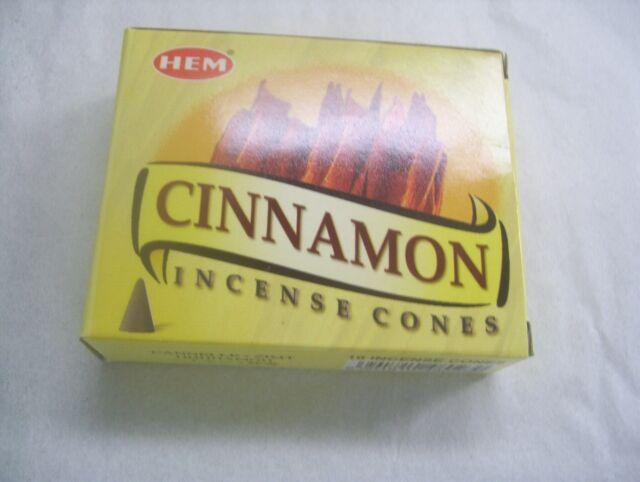 Hem Incense Cones Cinnamon: 10 20 30 60 100 or 120 U Choose!