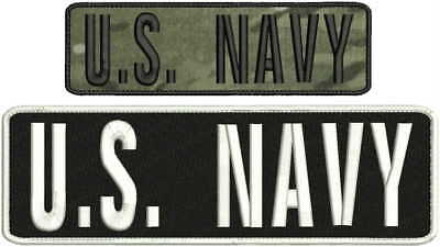 Navy embroidery patch 3x10 and 2x7 hook on back multicam white//black U.S