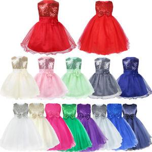 Baby-Pageant-Flower-Girl-Dress-Kid-Birthday-Wedding-Bridesmaid-Gown-Formal-Dress