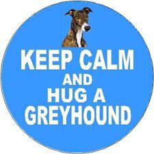 2 Greyhound Dog Car Stickers (Keep Calm & Hug) By Starprint
