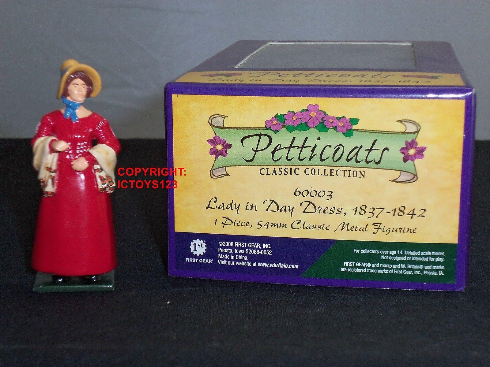 BRITAINS 60003 PETTICOATS LADY IN DAY DRESS 1837-42 METAL CIVILIAN FIGURE