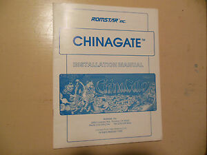 CHINA-GATE-ROMSTAR-original-arcade-game-manual