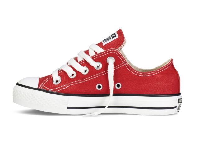 f2957abf7417 Converse Chuck Taylor All Star Ox Kids Trainer Junior - Red UK 1 ...