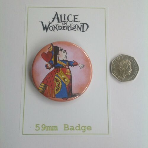 Queen of Hearts Tea Party Gift-Favour One Alice In Wonderland 59mm Badge