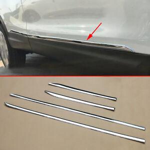 4X Chrome ABS Door Side Body Molding Cover Trim For Nissan Qashqai J11 2014-2020