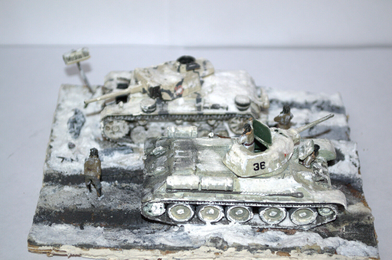 1 72 YRKESUTBYGGNADmodelllllerL WWWII DIORAMA SOVIET T -34 & GERMAN PzKpfW III 1941