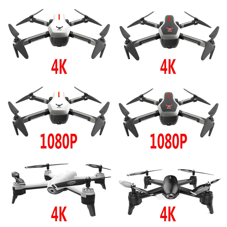 Radio Control Drone FPV Cámara Doble Flujo Óptico Plegable Sin Cabeza Cuadricóptero Tiempo Real