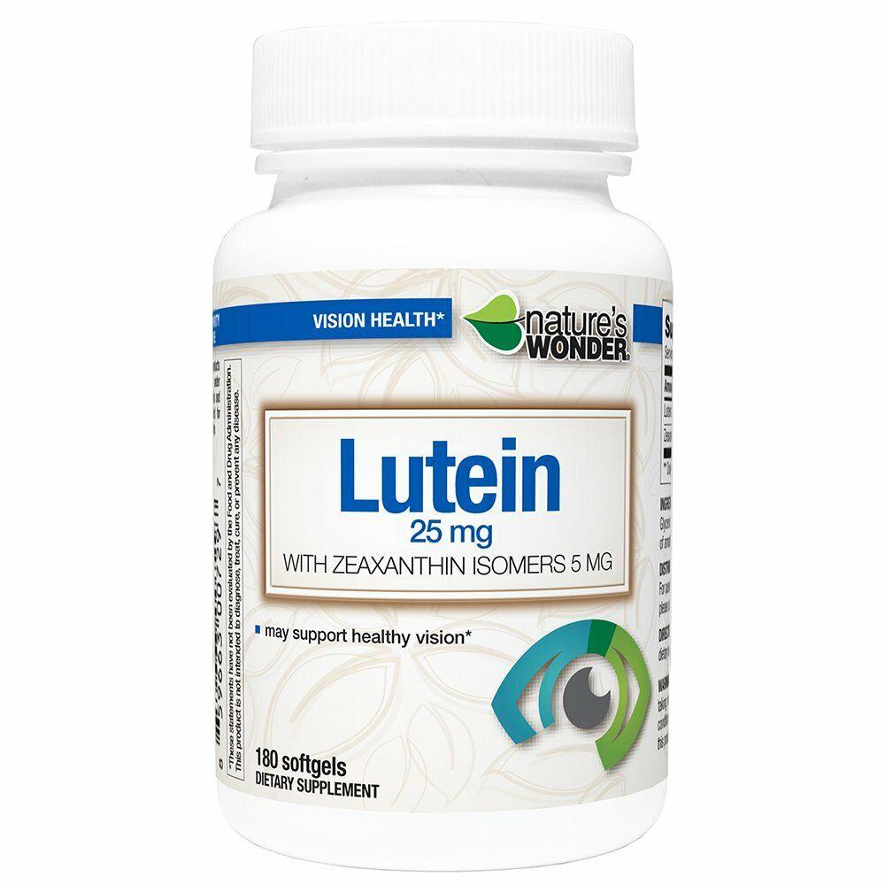 lutein 25mg zeaxanthin 5mg soft gels180ct
