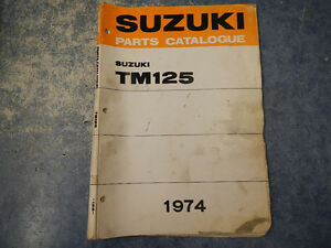 1973-1974 suzuki tm125 parts catalogue manual 2nd edition 73 74 tm