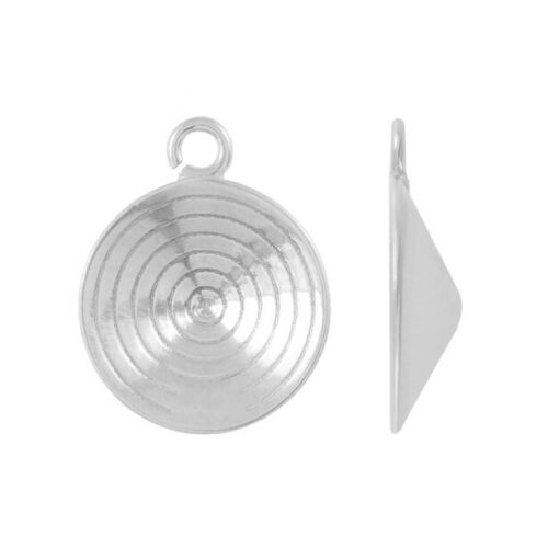 Choose Plating Sterling Silver Open Loop Bail for 1122 Rivoli Crystals