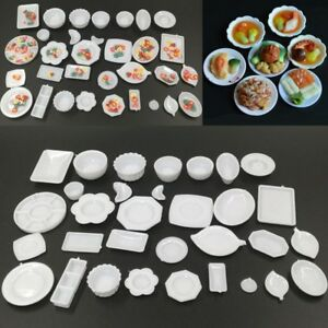 33Pcs-set-Dollhouse-Miniature-Dish-Tableware-Kitchen-Mini-Food-Plates-Kids-Toy