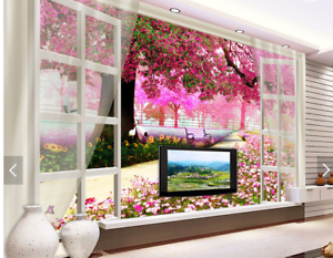 3D Flower Tree 588 Wallpaper Murals Wall Print Wallpaper Mural AJ WALL AU Kyra