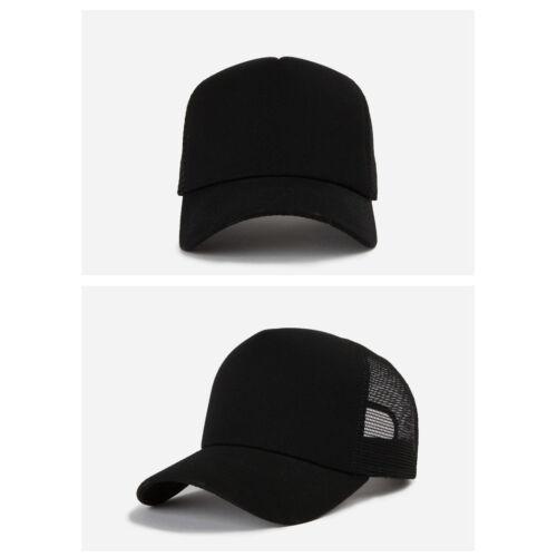 Unisexe Hommes Femmes Plain Blank Solide Couleur D/'Été Maille Casquette De Baseball Trucker Hats
