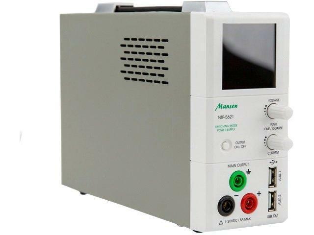 NTP-5621 Pwr sup.unit laboratory Channels3 120VDC 5VDC 5VDC 0.255A MANSON