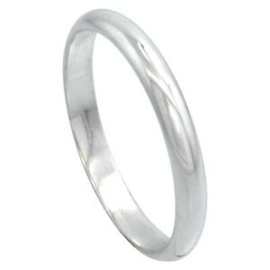 SOLID-Sterling-Silver-Band-Comfort-Fit-Ring-Genuine-925-Wholesale-Mens-Womens