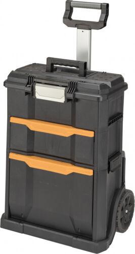 2-In-1 Tool Box Portable Rolling Workshop Cart Professional Storage Organizer