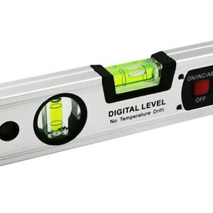 400mm LCD Digital Display Non-magnetic Spirit Level Ruler for Woodworking Tools
