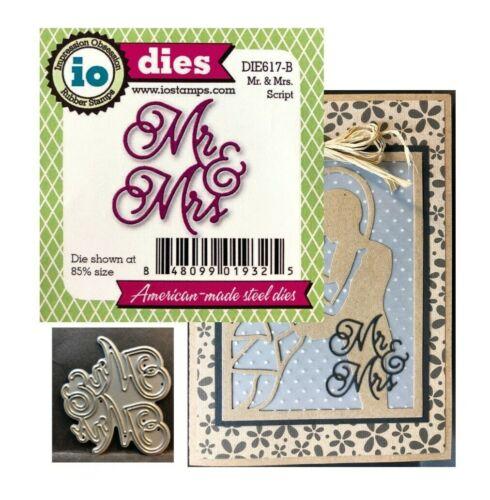 Mr /& Mrs Metal Die Cut Words Impression Obsession Wedding Cutting Dies DIE617
