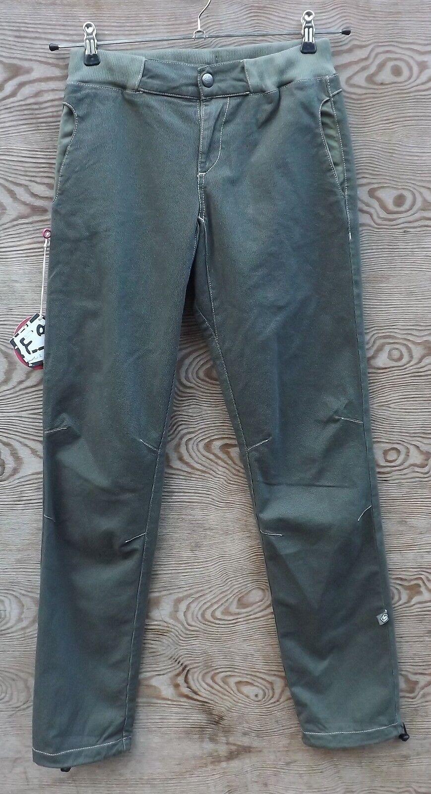 E9 FLEUR, Pantaloni per arrampicata per signore, Grigio Caldo