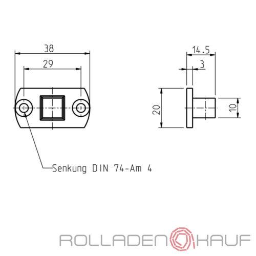 Rademacher Motorlager Adapter Small 10-er Vierkant RTBS RTFS RTCS RTIS RTSS