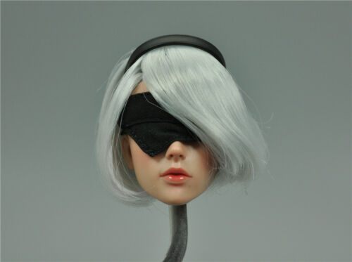 Headsculpt for SUPER DUCK SET015 Cosplay 2B Female 1//6th Scale Action Figure New