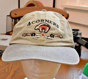 Pre-owned-vintage-4-Four-Corners-USA-states-baseball-cap-hat
