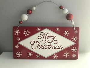 Ceramic-039-Merry-Christmas-039-Wall-Hanging-by-Real-Home