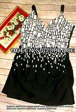 Christina Women's Size 16 Black & white Swim Dress Swimdress One-Piece Swimsuit