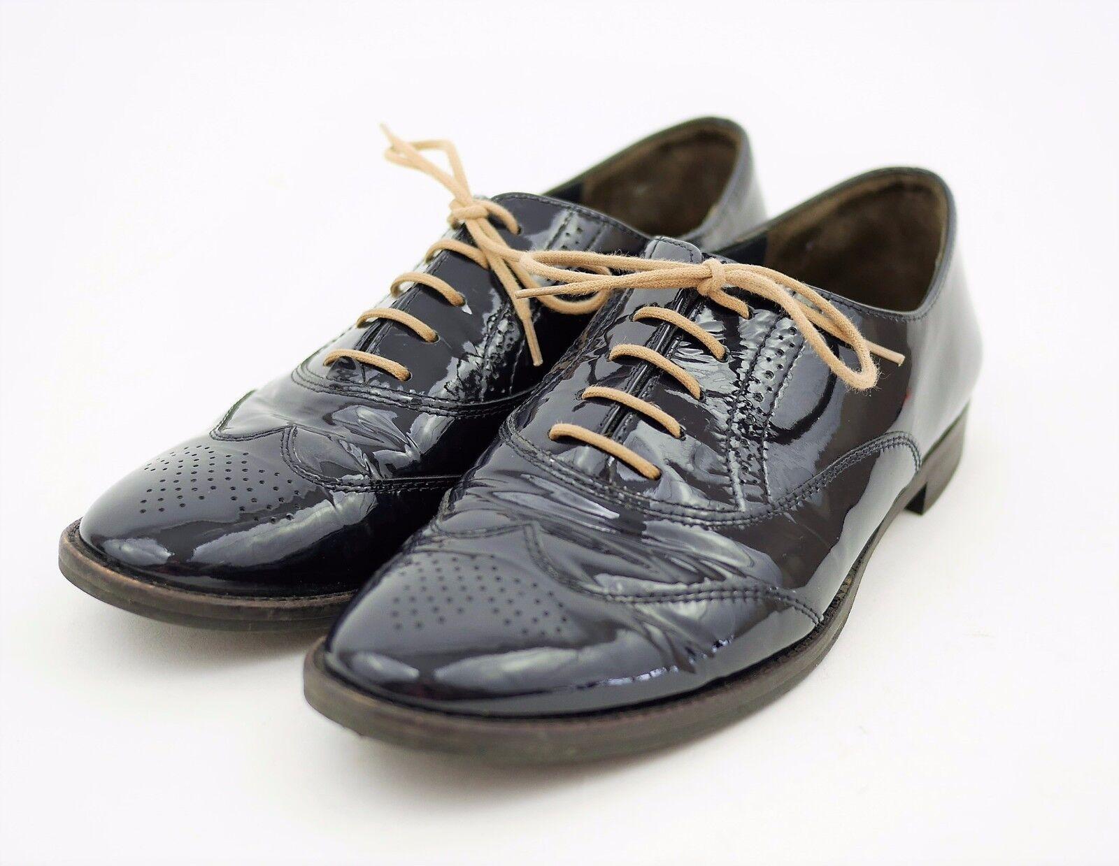 Garanzia del prezzo al 100% PAUL verde Munchen Navy blu Patent Leather Wingtip Oxfords Oxfords Oxfords Laced scarpe Uomo 6.5  risposta prima volta