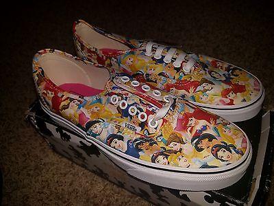 Vans x Disney Multi Princess Print CinderellaArielBelle Mens 4 Womens 5.5 RARE | eBay