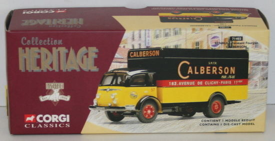 CORGI 1 50 SCALE HERITAGE COLLECTION 71403 RENAULT FAINEANT FOURGON CALBERSON