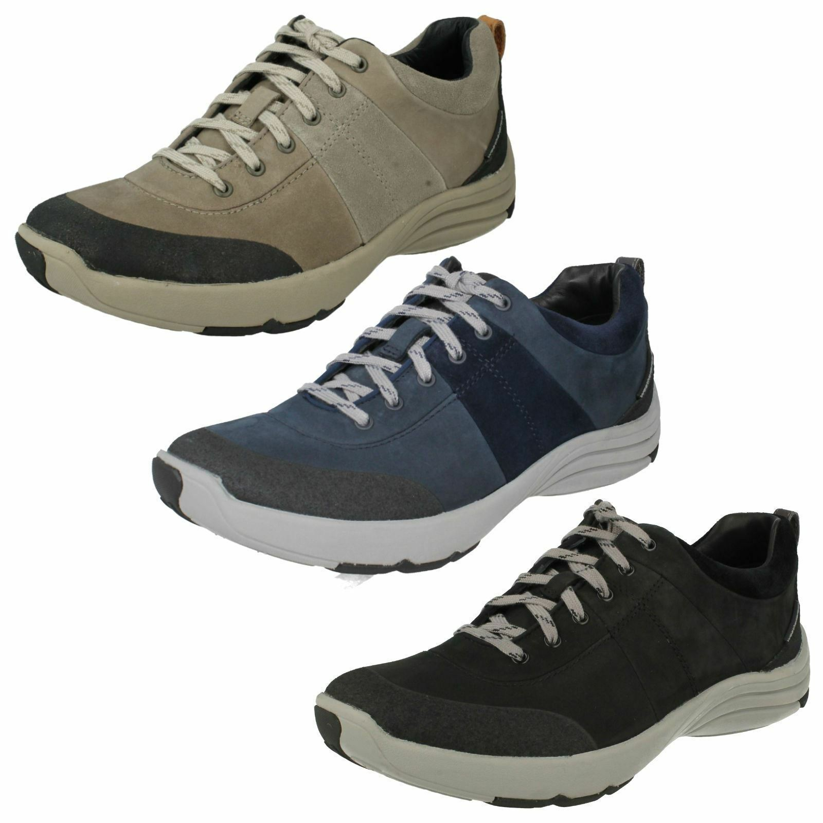 Ladies Clarks Leather Lace up Trainer