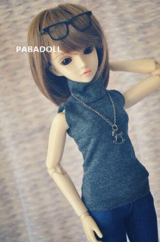 Sleeveless Turtleneck Vest for BJD 1/4 MSD 1/3 SD16 DD IP Doll Clothes CWB89