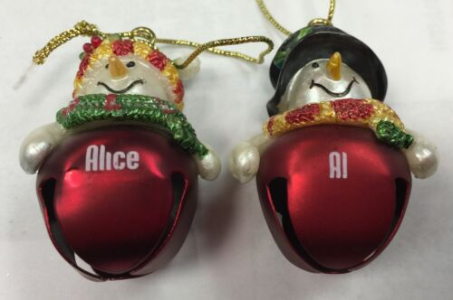 Other Names// Phrases Ganz Jingle Bell Snowman Name Ornament