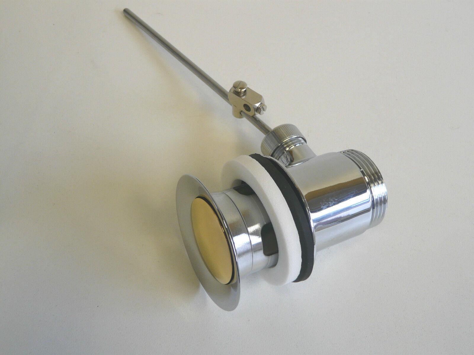 Ablaufgarnitur Chrom/Gold (24 Karat), Ablaufventil, Excenter, Waschtisch Waschtisch Waschtisch e48910