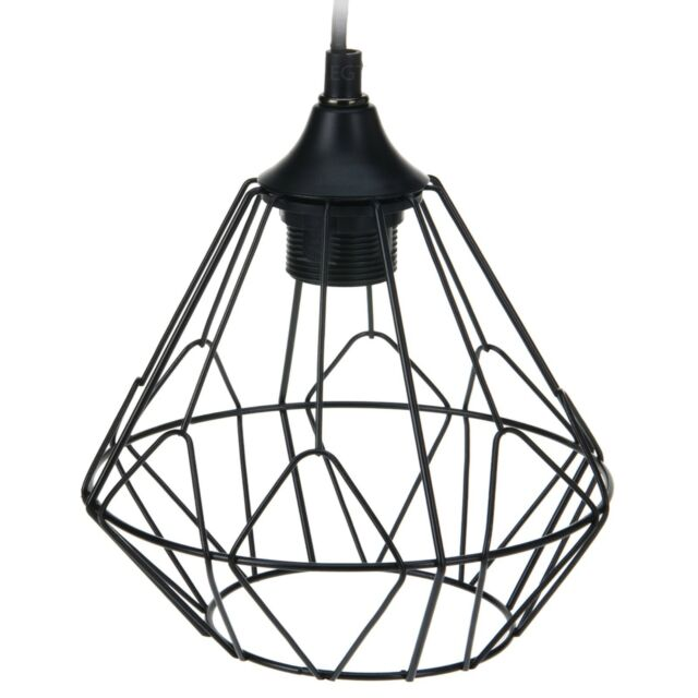 Hive Black Wire Design Ceiling Hanging Pendant Lamp Light Bulb Shade ...