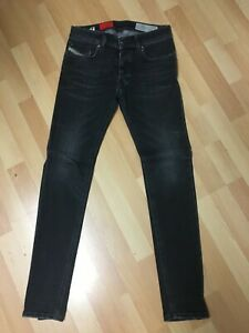 Ragazzi-NWD-DIESEL-troxer-Stretch-Denim-R9F66-D-Grigio-Slim-W26-27-L30-H5-Worn-look