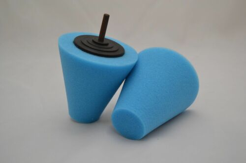 1pc Foam Polishing Cone Shaped Pads for Wheels Use with Power Drill