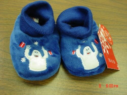 NWT Infant Toddlers Rudolph Humble Bumble Sock top Slippers Christmas Baby