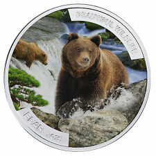 1$ Niue 2015 - Beautiful Wildlife - Bear / wunderschöne Tierwelt - Braunbär