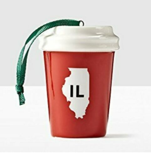 Starbucks Local Ornament USA State Collection Illinois 2016
