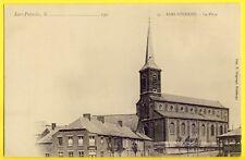 CPA SARS POTERIES en 1900 (Nord) La Place ÉGLISE ESTAMINET